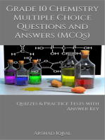 Grade 10 Chemistry Multiple Choice Questions and Answers (MCQs)