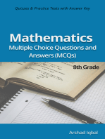 8th Grade Math MCQs: Multiple Choice Questions and Answers (Quiz & Tests with Answer Keys)
