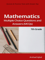 7th Grade Math MCQs