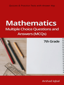 Grade 7 Math Multiple Choice Questions and Answers (MCQs): Quizzes & Practice Tests with Answer Key (7th Grade Math Quick Study Guide & Course Review)