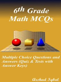 Grade 6 Math Multiple Choice Questions and Answers (MCQs): Quizzes & Practice Tests with Answer Key (6th Grade Math Quick Study Guide & Course Review)