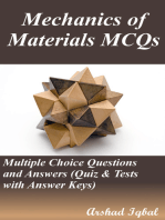 Mechanics of Materials MCQs