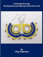 Iris Beaded Earrings Beading and Jewelry Making Tutorial Series I26