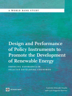 Design and Performance of Policy Instruments to Promote the Development of Renewable Energy: Emerging Experience in Selected Developing Countries