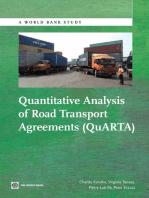Quantitative Analysis of Road Transport Agreements - QuARTA