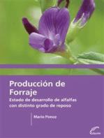 Producción de forraje: Estado y desarrollo de alfalfas con distinto grado de reposo