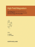 High Field Magnetism: Proceedings of the 2nd International Symposium on High Field Magnetism, Leuven, Belgium, 20-23 July 1988