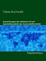 Auswirkungen der Industrie 4.0 auf Geschäftsmodelle der Automobilhersteller