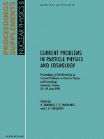 Current Problems in Particle Physics and Cosmology