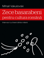 Zece basarabeni pentru cultura română (interviuri cu tinerii dintre milenii)