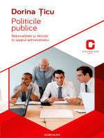 Politicile publice. Raționalitate și decizie în spațiul administrativ