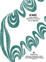KWIC Index of Rock Mechanics Literature