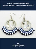 Crystal Treasure Hoop Earrings Beading & Jewelry Making Tutorial Series I78