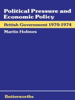 Political Pressure and Economic Policy: British Government 1970–1974