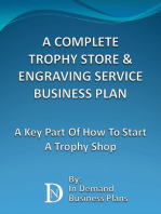 A Complete Trophy Store & Engraving Service Business Plan