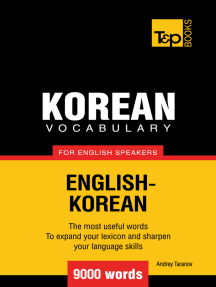 Korean vocabulary for English speakers: 9000 words