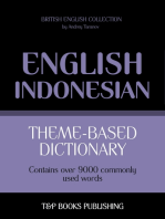 Theme-based dictionary British English-Indonesian: 9000 words