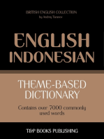 Theme-based dictionary British English-Indonesian: 7000 words