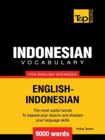 Indonesian vocabulary for English speakers: 9000 words
