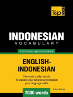 Indonesian vocabulary for English speakers: 7000 words
