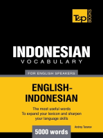 Indonesian vocabulary for English speakers