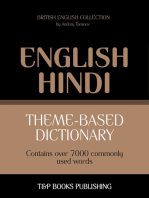 Theme-based dictionary British English-Hindi