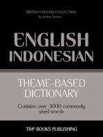 Theme-based dictionary British English-Indonesian: 3000 words