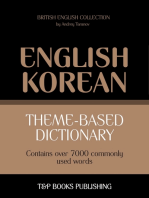 Theme-based dictionary British English-Korean