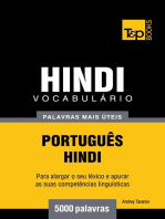 Vocabulário Português-Hindi