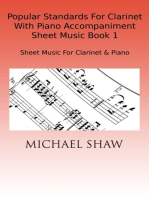 Popular Standards For Clarinet With Piano Accompaniment Sheet Music Book 1