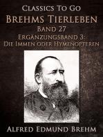 Brehms Tierleben. Band 27.Ergänzungsband 3