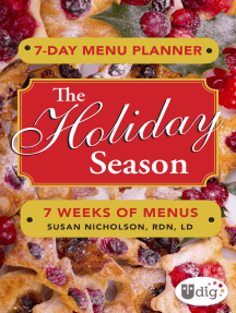 7-Day Menu Planner: The Holiday Season: 7 Weeks of Meals