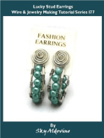 Lucky Stud Earrings Wire & Jewelry Making Tutorial Series I77