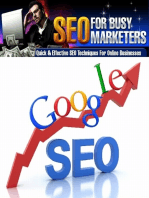 Seo for Busy Marketers - Quick and Effective Seo Techniques for Online Businesses