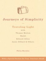Journeys of Simplicity: Traveling Light with Thomas Merton,  Bashō, Edward Abbey, Annie Dillard & Others
