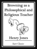 Browning as a Philosophical and Religious Teacher