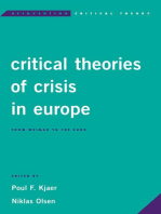 Critical Theories of Crisis in Europe: From Weimar to the Euro