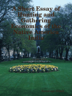 A Short Essay of Hunting and Gathering Economics of the Native America India