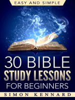 30 Bible Study Lessons for Beginners Easy and Simple