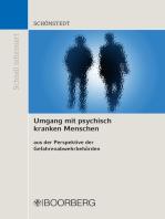Umgang mit psychisch kranken Menschen aus der Perspektive der Gefahrenabwehrbehörden