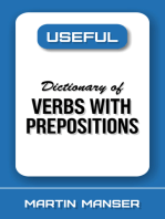 Useful Dictionary of Verbs With Prepositions