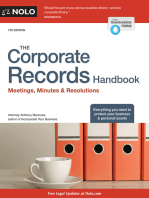 Corporate Records Handbook, The