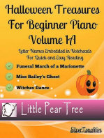 Halloween Treasures for Beginner Piano - Volume 1 A
