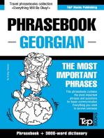 English-Georgian phrasebook and 3000-word topical vocabulary