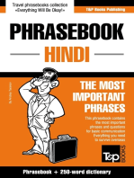 English-Hindi phrasebook and 250-word mini dictionary