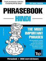 English-Hindi phrasebook and 3000-word topical vocabulary