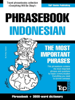 English-Indonesian phrasebook and 3000-word topical vocabulary