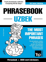 English-Uzbek phrasebook and 3000-word topical vocabulary