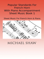 Popular Standards For French Horn With Piano Accompaniment Sheet Music Book 1