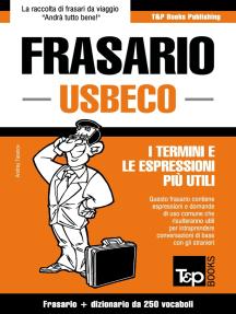 Frasario Italiano-Usbeco e mini dizionario da 250 vocaboli